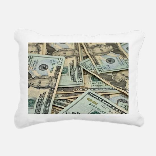 Unique Dollar Rectangular Canvas Pillow