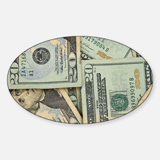 Funny Money Sticker (Oval)