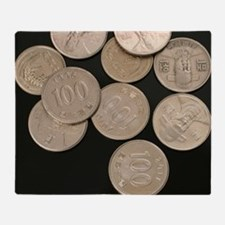 Funny Coin Throw Blanket