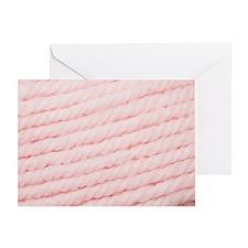 Unique Pink yarn Greeting Card