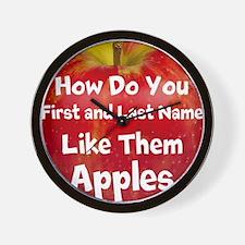 How do you like them Apples Wall Clock