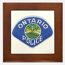 Ontario Police Framed Tile