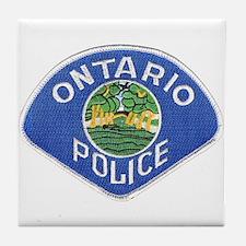 Ontario Police Tile Coaster