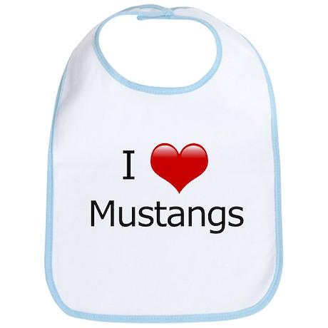 I Love Mustangs Bib