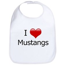 I Love Mustangs Bib
