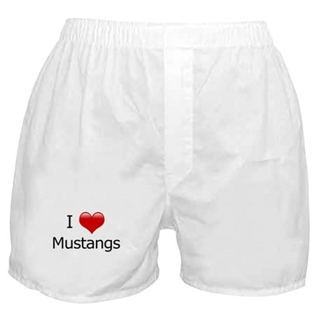 I Love Mustangs Boxer Shorts