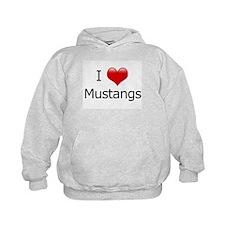 I Love Mustangs Hoodie