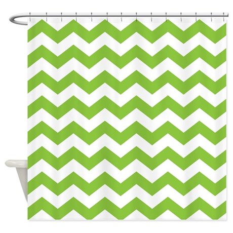 Lime Green Chevron Shower Curtain By 1512blvd
