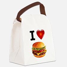 Cheeseburger Love Canvas Lunch Bag