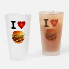 Cheeseburger Love Drinking Glass
