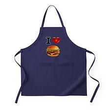Cheeseburger Love Apron (dark)
