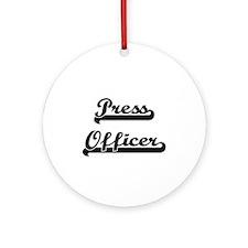 Press Officer Artistic Job Design Ornament (Round)