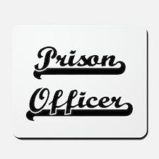 Prison Officer Artistic Job Design Mousepad