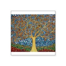 "Funny Tree Square Sticker 3"" x 3"""