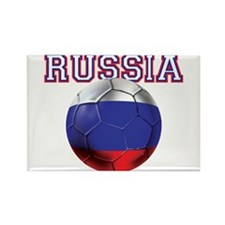 Russian Football Rectangle Magnet