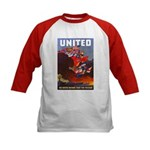 Fight For Freedom (Front) Kids Baseball Jersey