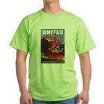 Fight For Freedom (Front) Green T-Shirt