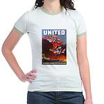 Fight For Freedom (Front) Jr. Ringer T-Shirt