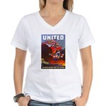 Fight For Freedom (Front) Women's V-Neck T-Shirt