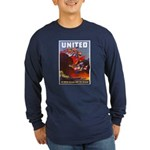 Fight For Freedom (Front) Long Sleeve Dark T-Shirt
