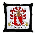 Pariseau Family Crest Throw Pillow