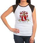 Pariseau Family Crest Women's Cap Sleeve T-Shirt