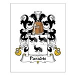 Paradis Family Crest Small Poster