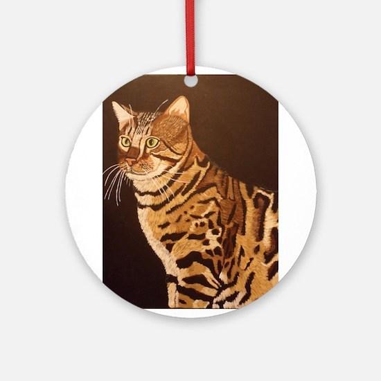 Bengal Kitty Ornament (Round)