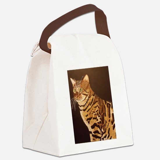 Bengal Kitty Canvas Lunch Bag