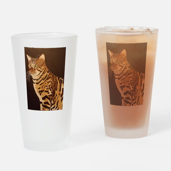 Bengal Kitty Drinking Glass