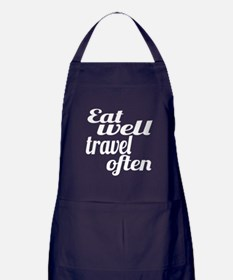 eat well travel often Apron (dark)