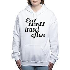 eat well travel often Women's Hooded Sweatshirt