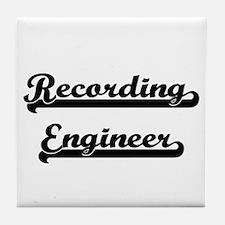 Recording Engineer Artistic Job Desig Tile Coaster