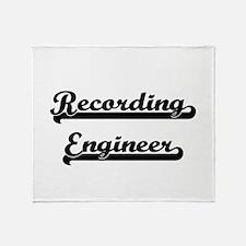 Recording Engineer Artistic Job Desi Throw Blanket