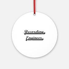 Recording Engineer Artistic Job D Ornament (Round)