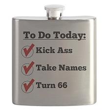 Kick Ass Take Names Turn 66 Flask