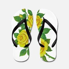 Yellow Roses Flip Flops