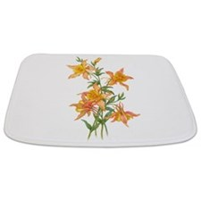 Yellow Ginger Lilies Bathmat