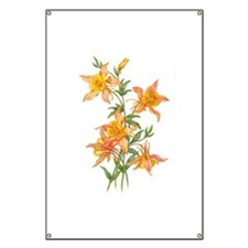 Yellow Ginger Lilies Banner