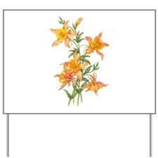 Yellow Ginger Lilies Yard Sign
