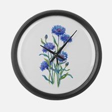 Blue Bonnets Large Wall Clock