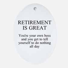 Retirement Ornament (Oval)