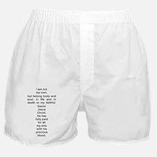 Heidelberg Catechism Q1 Boxer Shorts