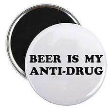 BEER IS MY ANTI-DRUG Magnet
