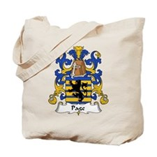 Page Family Crest Tote Bag