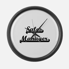 Sales Manager Artistic Job Design Large Wall Clock