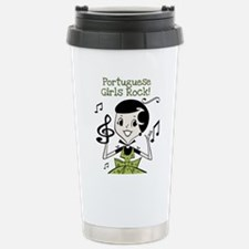 Funny Portugal girl Travel Mug