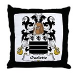 Ouelette Family Crest  Throw Pillow