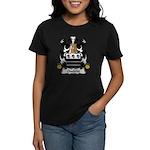 Ouelette Family Crest  Women's Dark T-Shirt