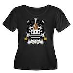 Ouelette Family Crest  Women's Plus Size Scoop Nec
